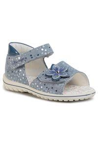 Niebieskie sandały Primigi na co dzień, casualowe, z aplikacjami