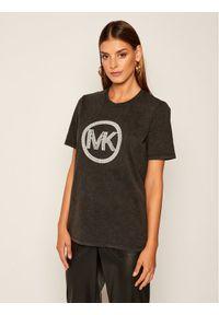 MICHAEL Michael Kors T-Shirt Embellished Logo MU05MLHELE Szary Regular Fit. Kolor: szary