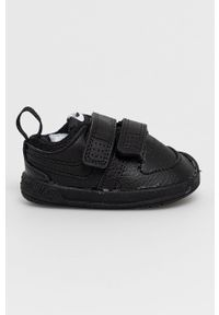 Czarne buty sportowe Nike Kids na rzepy, z cholewką