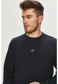Niebieska bluza nierozpinana TOMMY HILFIGER na co dzień, casualowa, gładkie