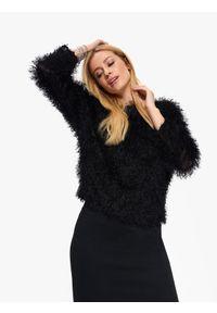 Czarny sweter TOP SECRET na co dzień, casualowy, z krótkim rękawem, na wiosnę