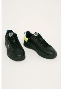 Czarne buty sportowe Big-Star na średnim obcasie, na obcasie, z cholewką, na sznurówki