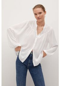 Biała koszula mango długa, na co dzień, casualowa
