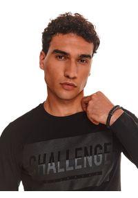 TOP SECRET - T-shirt z nadrukiem. Kolor: czarny. Wzór: nadruk
