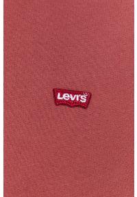 Levi's® - Levi's - Bluza. Okazja: na co dzień, na spotkanie biznesowe. Kolor: różowy. Materiał: dzianina. Wzór: gładki, aplikacja. Styl: biznesowy, casual
