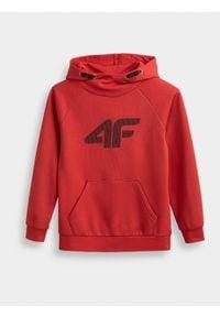 Czerwona bluza 4f na co dzień, ze stójką, casualowa