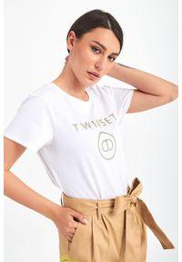 Twinset Milano - T-SHIRT TWINSET. Długość rękawa: krótki rękaw. Długość: krótkie