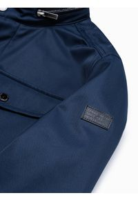 Niebieska kurtka Ombre Clothing na wiosnę, ze stójką #10