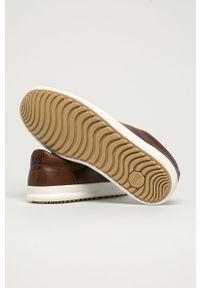Brązowe sneakersy Camper na sznurówki, z cholewką, z okrągłym noskiem