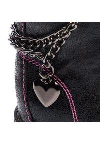 Czarne kozaki Nelli Blu z cholewką, z cholewką za kostkę, z aplikacjami