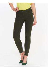 Zielone spodnie TOP SECRET długie, w kolorowe wzory, na lato