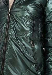 Born2be - Ciemnozielona Kurtka Monile. Kolor: zielony. Wzór: geometria, aplikacja. Styl: elegancki