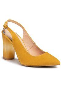 Żółte sandały Baldaccini z aplikacjami, na co dzień, casualowe