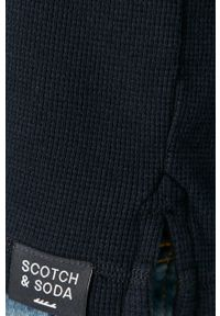 Niebieski sweter Scotch & Soda z okrągłym kołnierzem, casualowy