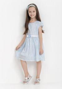 Born2be - Jasnoniebieska Sukienka Atholphi. Kolor: niebieski