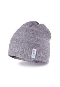 PaMaMi - Wiosenna czapka dziecięca. Kolor: szary. Materiał: bawełna, elastan. Sezon: wiosna