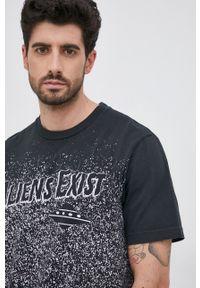 Diesel - T-shirt bawełniany. Okazja: na co dzień. Kolor: czarny. Materiał: bawełna. Wzór: nadruk. Styl: casual
