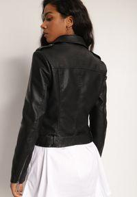 Renee - Czarna Ramoneska Nonamei. Kolor: czarny. Materiał: tkanina. Wzór: moro. Styl: militarny