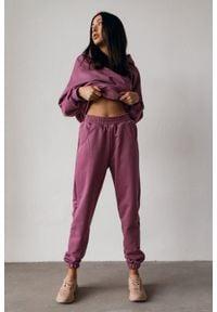 Marsala - Spodnie dresowe typu jogger w kolorze GRAPE KISS - DISPLAY BY MARSALA. Stan: podwyższony. Materiał: dresówka. Styl: elegancki