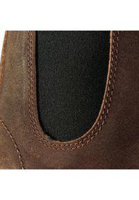Brązowe botki Blundstone z cholewką, na średnim obcasie, na obcasie #7