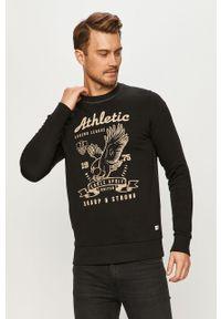Czarna bluza nierozpinana PRODUKT by Jack & Jones casualowa, na co dzień, z nadrukiem, bez kaptura