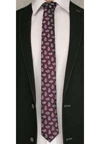 Brązowy Elegancki Krawat w Łezki -Angelo di Monti- 6 cm, Męski, Paisley. Kolor: beżowy, brązowy, wielokolorowy. Wzór: paisley. Styl: elegancki