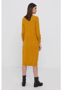 Vila - Kardigan. Kolor: żółty. Materiał: dzianina