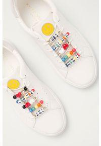 Kurt Geiger London - Buty skórzane Lane. Nosek buta: okrągły. Zapięcie: sznurówki. Kolor: biały. Materiał: skóra