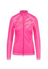 Różowa bluza Sportalm sportowa, z nadrukiem, ze stójką
