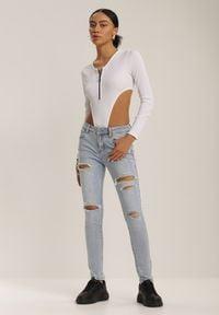 Renee - Jasnoniebieskie Jeansy Skinny Pixeosis. Kolor: niebieski