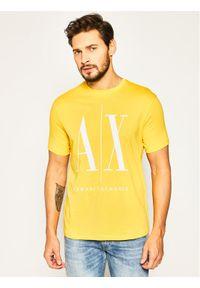 Żółty t-shirt Armani Exchange