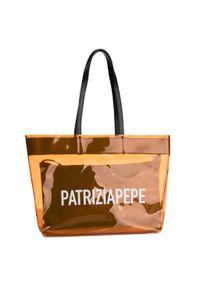 Pomarańczowa torebka klasyczna Patrizia Pepe klasyczna