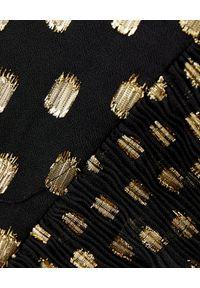 SELF PORTRAIT - Czarny kombinezon z paskiem. Okazja: na imprezę. Kolor: czarny. Materiał: tkanina. Wzór: kropki, gładki. Styl: wizytowy, elegancki #3