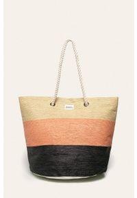 Pomarańczowa torba plażowa Roxy duża, na ramię