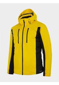 Żółta kurtka narciarska outhorn