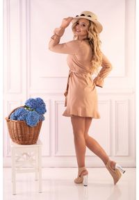 Sukienka wizytowa Merribel wizytowa, mini, z falbankami