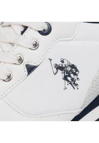 Białe sneakersy U.S. Polo Assn z cholewką