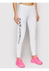 Białe spodnie dresowe EA7 Emporio Armani