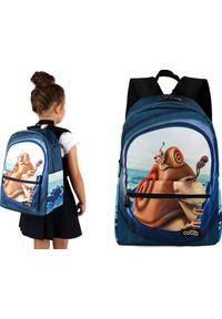 Cogio Kids Italy Plecak szkolny 2043AM granatowy. Kolor: niebieski