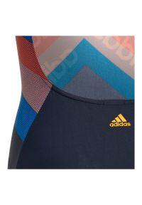 Adidas - Strój kąpielowy dla dzieci adidas Athly Light Graphic DY5888. Materiał: nylon, dzianina, materiał, elastan