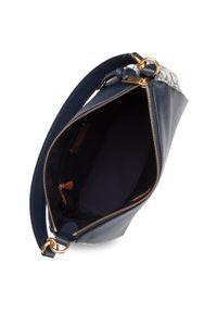 Niebieska torebka klasyczna Coach skórzana