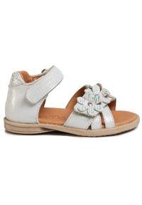 Srebrne sandały Froddo z aplikacjami, na lato