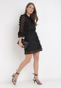 Born2be - Czarna Sukienka Rebexa. Kolor: czarny