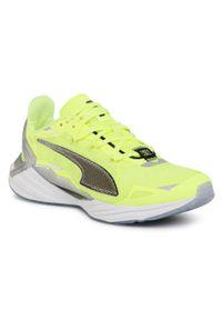 Żółte buty do biegania Puma z cholewką