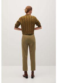 Spodnie materiałowe mango na co dzień, casualowe, z podwyższonym stanem