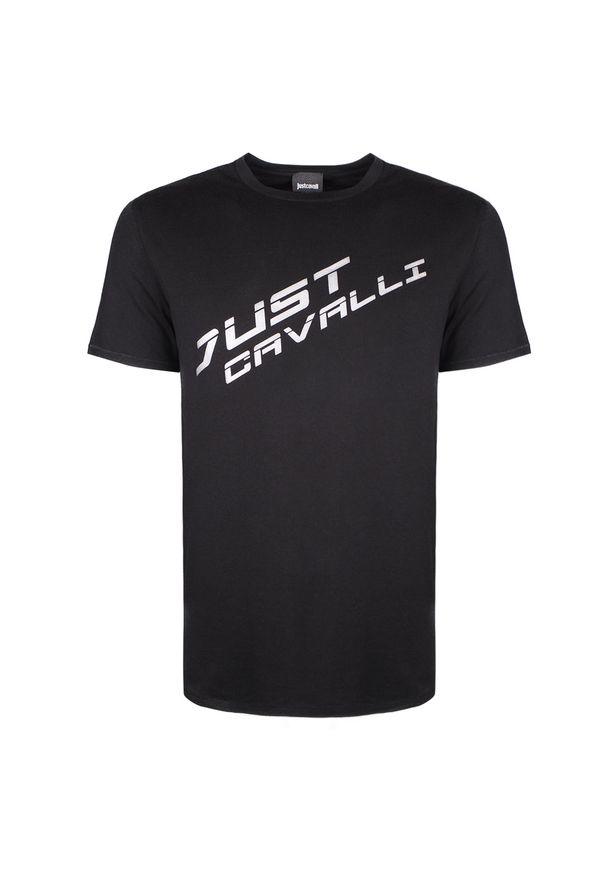 T-shirt Roberto Cavalli casualowy, z okrągłym kołnierzem, na co dzień