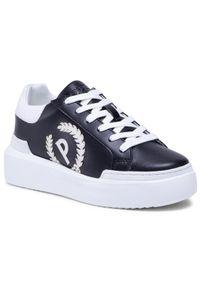 Czarne sneakersy Pollini