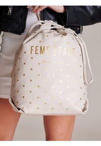 Beżowa torebka FEMESTAGE Eva Minge z aplikacjami, zdobiona