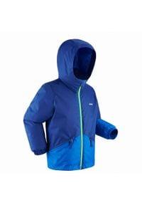 WEDZE - Kurtka narciarska 100 dla dzieci. Kolor: niebieski. Materiał: polar, materiał. Sport: narciarstwo