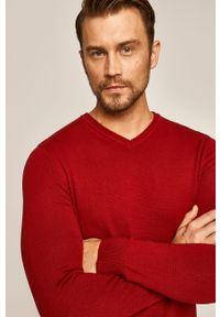 Czerwony sweter medicine na co dzień, casualowy